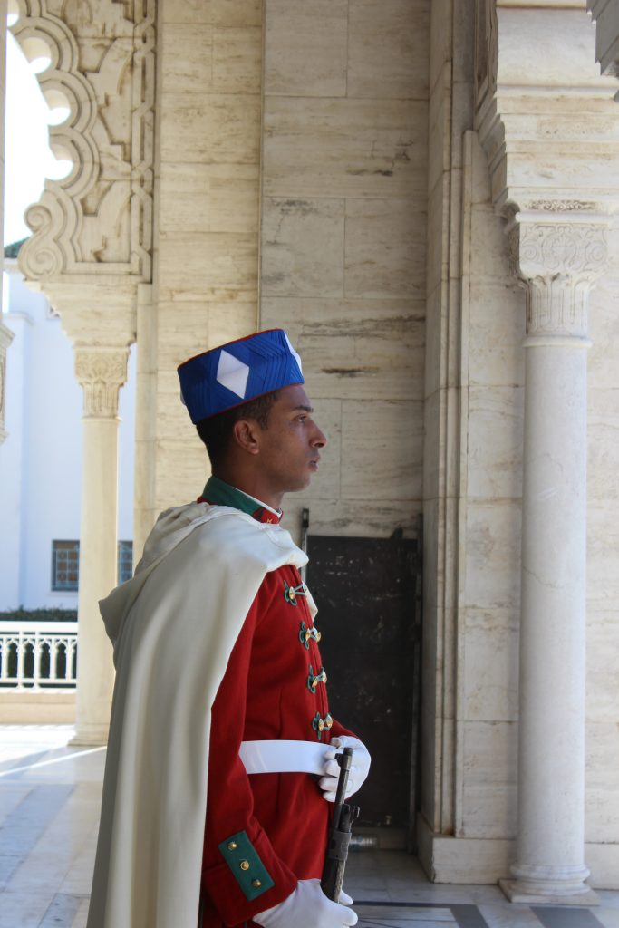 Guard at the Rabat Mausoleum