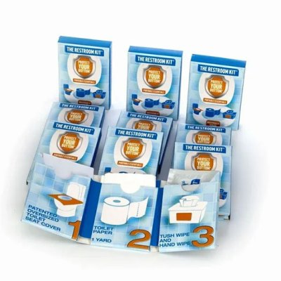 the restroom kit - public restroom kit - toilet tissue to go 6 pack - mini tissue packs bulk