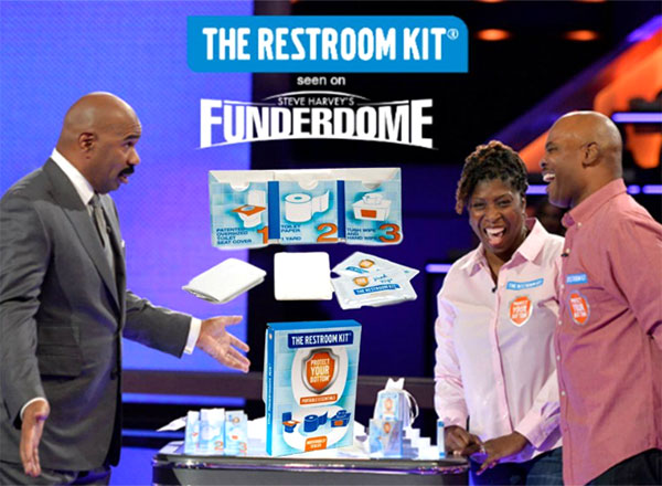 Restroom Kit - seen on - Steve Harvey's - Funderdome
