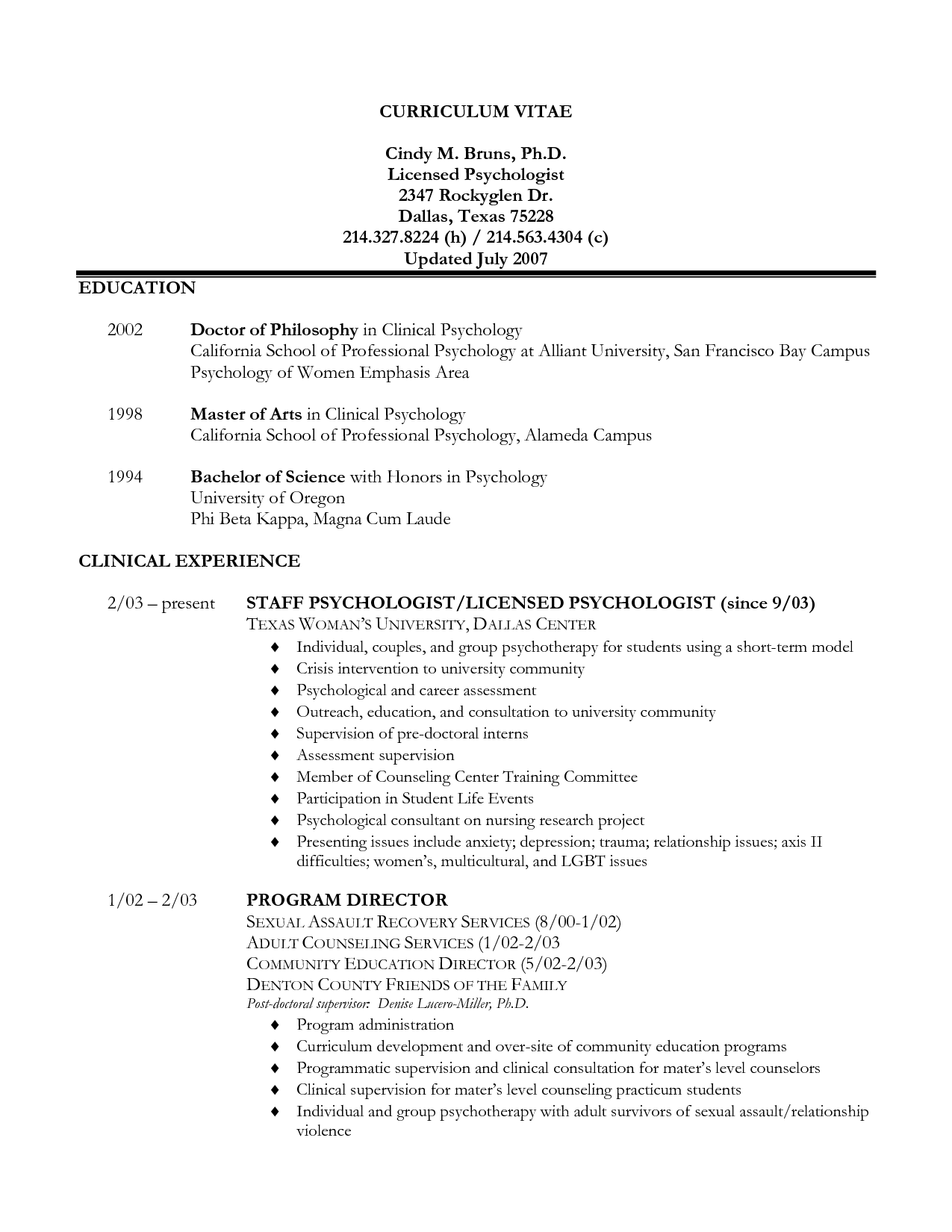 sample resume cv template undergraduate students