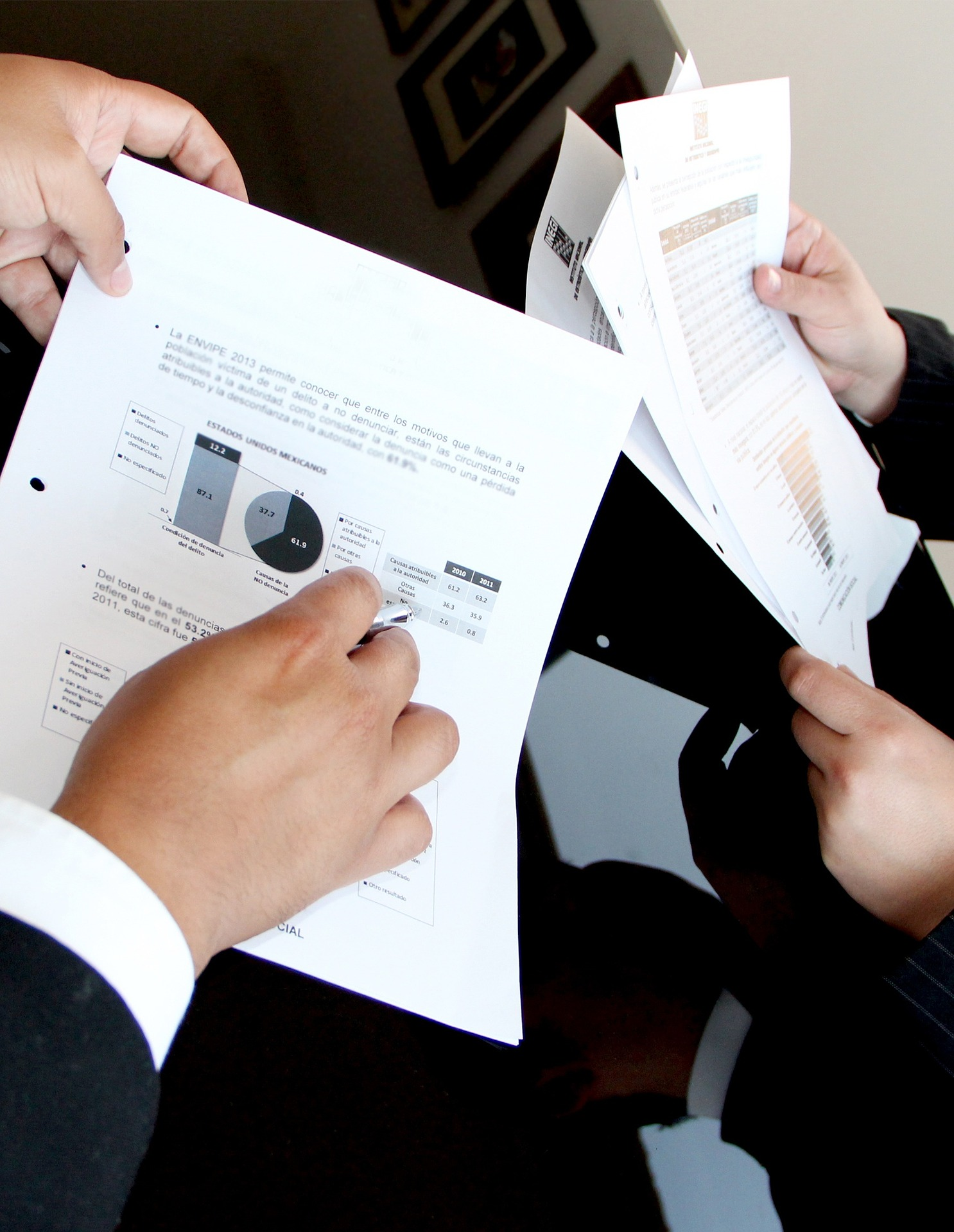 accountants look at documents