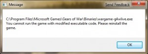 Message when trying to launch game