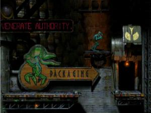 Oddworld has a less pleasant form of the motivation poster - the sarcastic billboard. I think I prer it really.