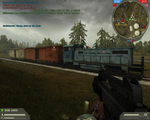 A train..in BF2, a rare sight..