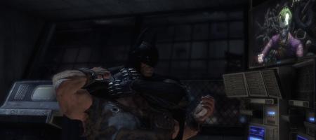 Batman puts the goon to sleep. No biff! No pow!