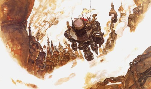 Final Fantasy 6 Amano Artwork Terra Magitek