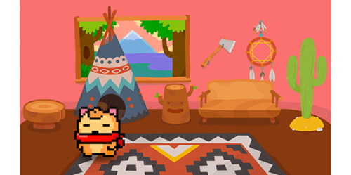 Creature in themed room Pakka Pets screenshot
