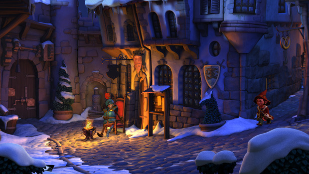 Book of Unwritten Tales Street Screenshot