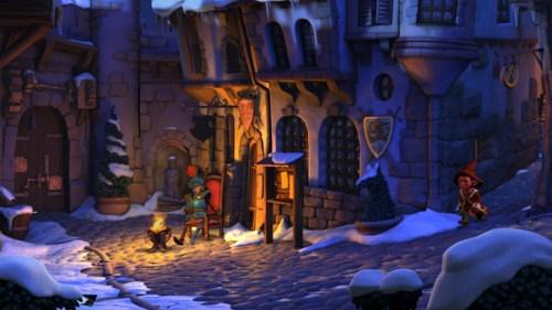Book of Unwritten Tales Street Screenshot