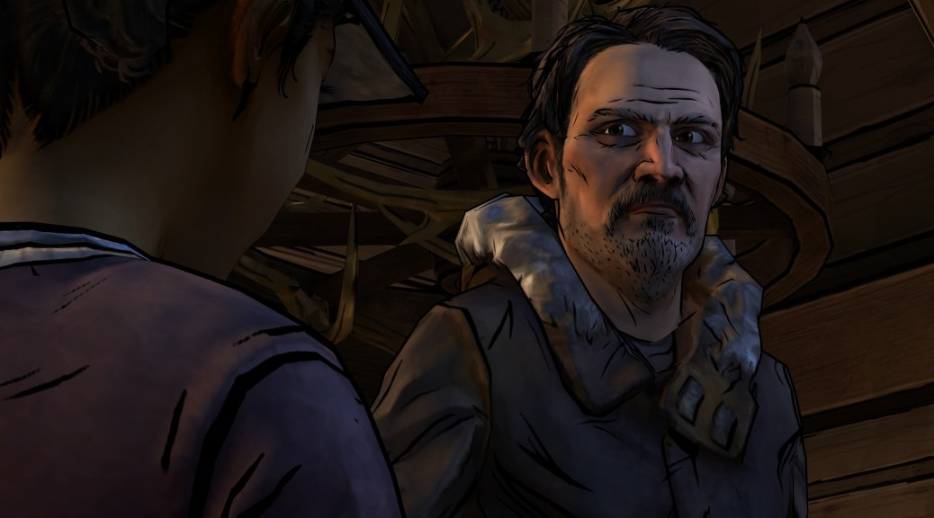 Carver and Clementine Walking Dead S2E2 screenshot