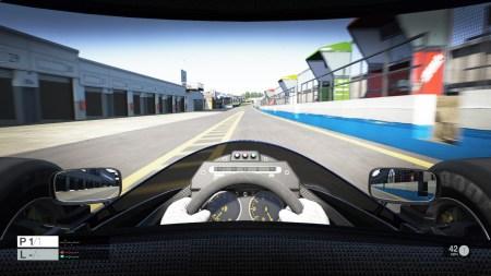 The Lotus looks stunning inside the cockpit.