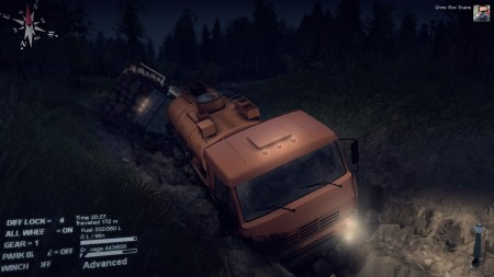 As night fell, I was still stuck in the mud and at risk of my rescue vehicle getting stuck as well.