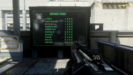 My grenade range scores were decent...just don't look at my firing range scores.