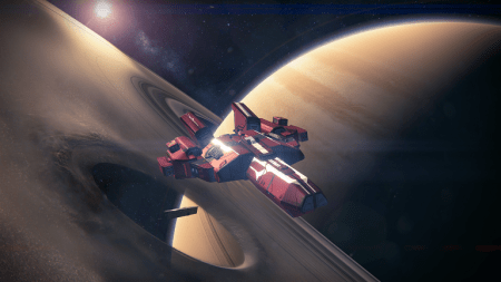 Saturn and a ship..if I was up with my lore I might know what this meant.