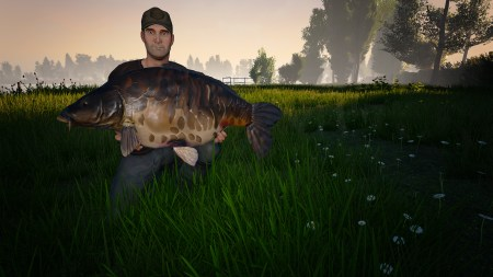 That's a huge fish!!! Are we sure this isn't a secret horror game where the fish rise up against us?