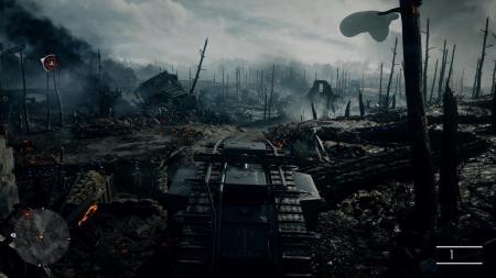 It's a hellish landscape you fight through.