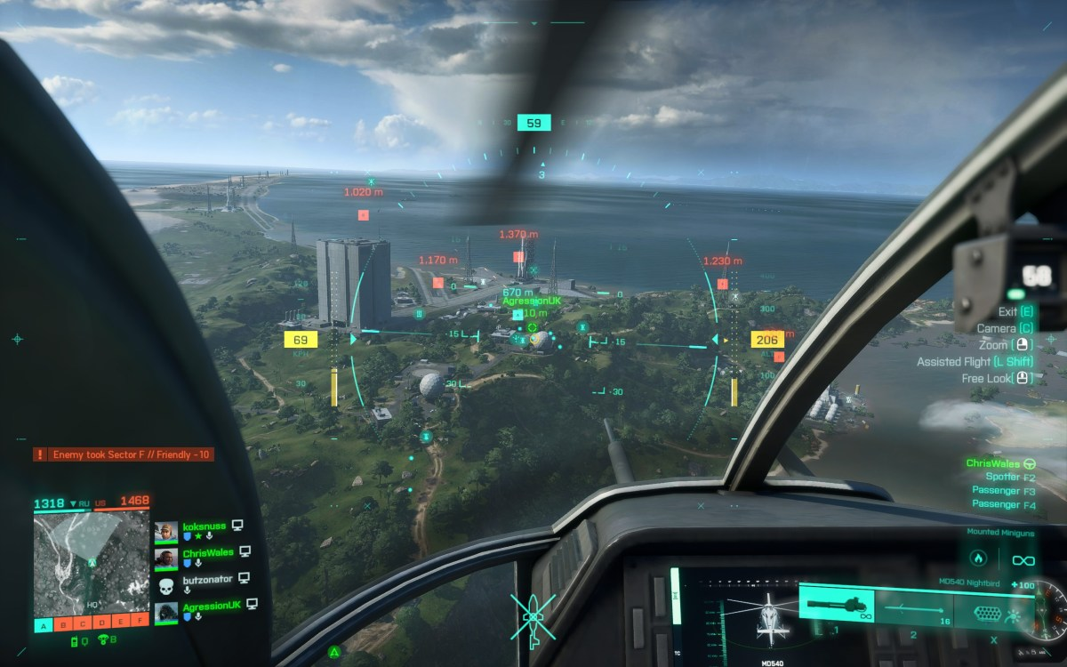 Flying a helicopter in Battlefield 2042