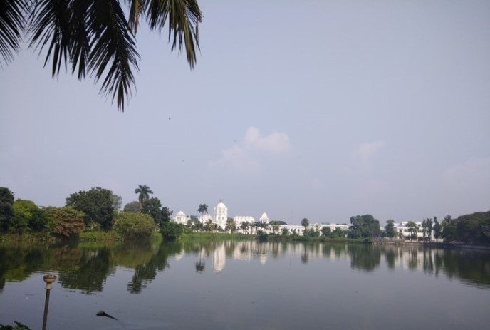 Agartala palace by the lake