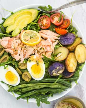 Nicoise Salmon Salad with French Vinaigrette
