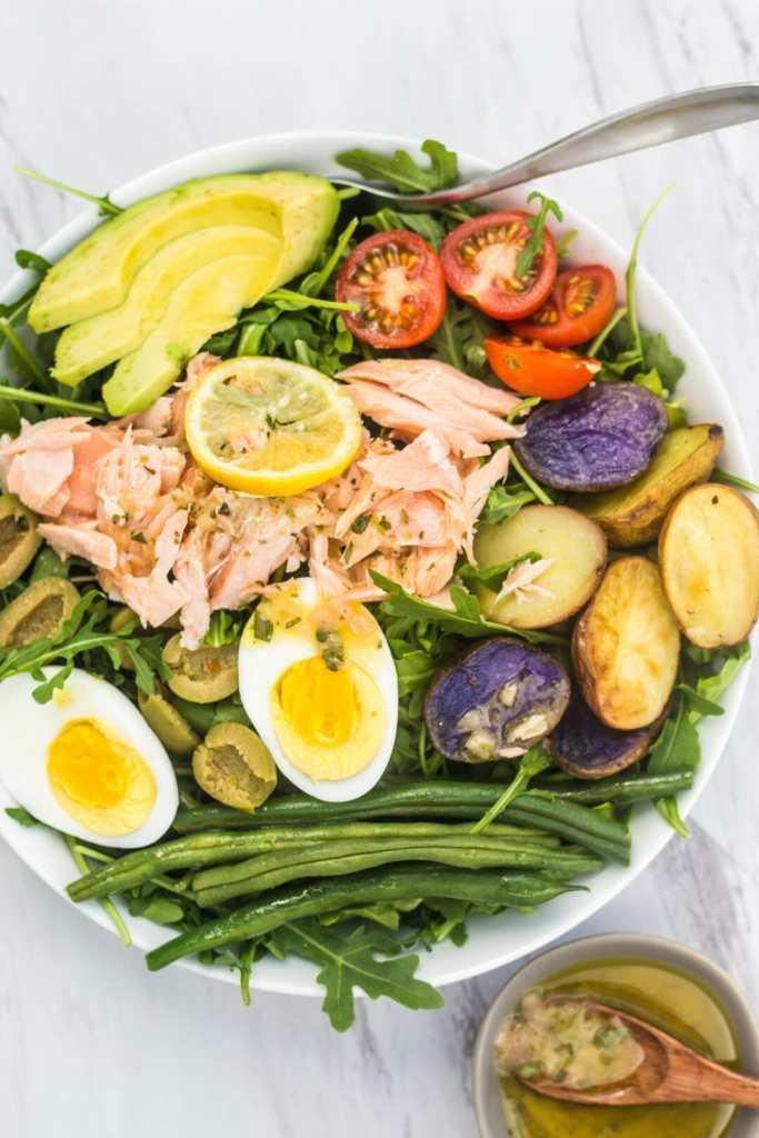 Nicoise Salmon Salad with French Vinaigrette
