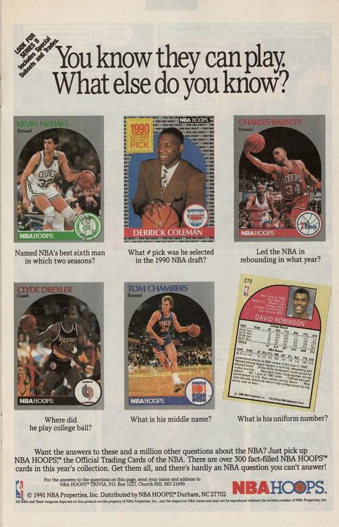 NBA Hoops cards