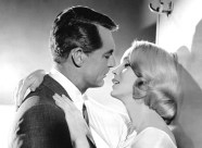 Eva Marie Saint and Cary Grant.