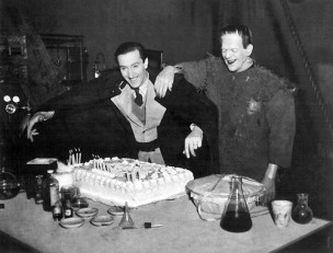 Basil Rathbone and Boris Karloff