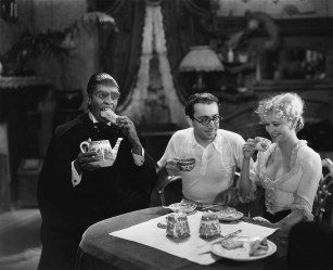 Fredric March, Rouben Mamoulian, and Miriam Hopkins
