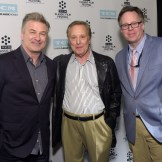 (L-R) Actor Alec Baldwin, director William Friedkin and Vice President of Studio Production at TCM Sean Cameron attend the screening of 'The French Connection' during day three of the 2015 TCM Classic Film Festival on March 28, 2015 in Los Angeles, California.