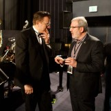 Leonard Maltin talking with Vince Giardano on Saturday at the TCM Classic Film Festival in Hollywood, California, 2011