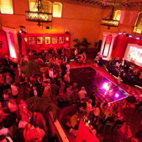 Pass holders in Club TCM enjoying the after party Sunday at the TCM Classic Film Festival in Hollywood, California.