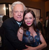 Robert Osborne and Rose McGowan at the Vanity Fair party on Thursday at the TCM Classic Film Festival in Hollywood, California, 2011