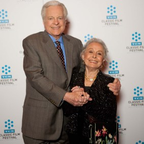 Robert Osborne and Marge Chmpion on Sunday at the TCM Classic Film Festival in Hollywood, California, 2011