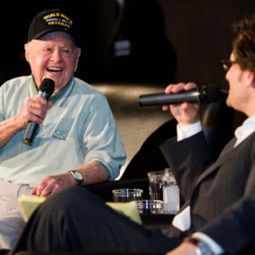 Mickey Rooney and Ben Mankiewicz discussing Girl Crazy (1943) at the TCM Classic Film Festival in Hollywood, California, 2011