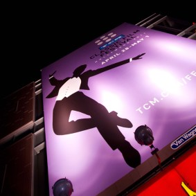 Signage on Sunday at the TCM Classic Film Festival in Hollywood, May 2011.