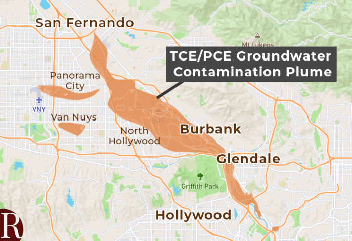 Groundwater plume