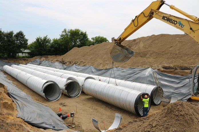 stormwater storage pipes