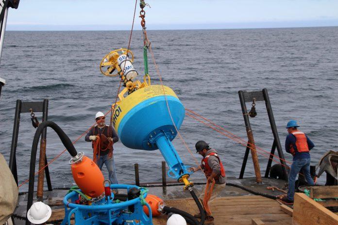 deploying buoy