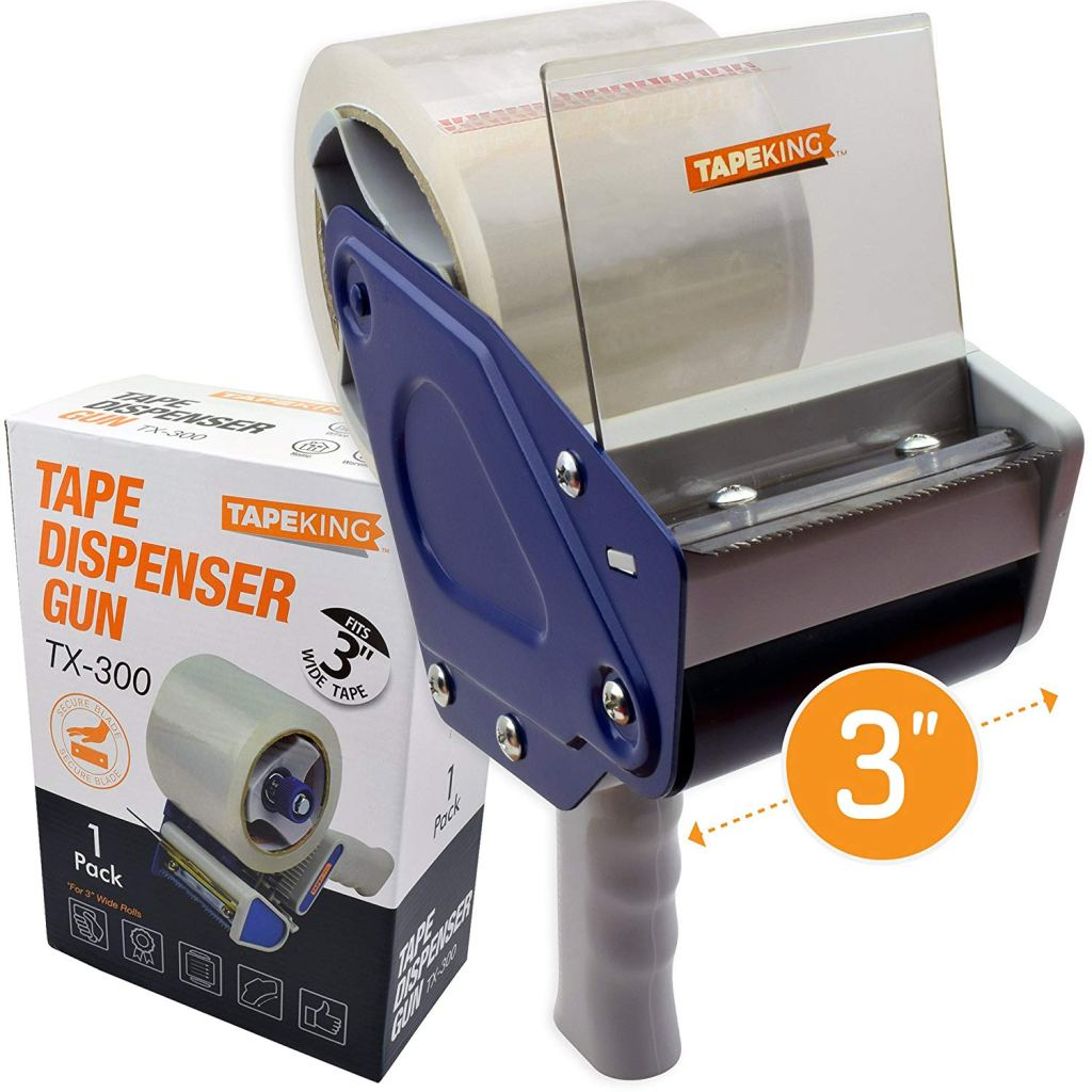 Tape King TX300 3 Inch Wide Packing Tape Dispenser Gun