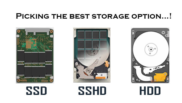 SSD and HDD and SSHD
