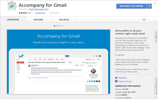 Accompany for Gmail