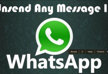 whats app unsend