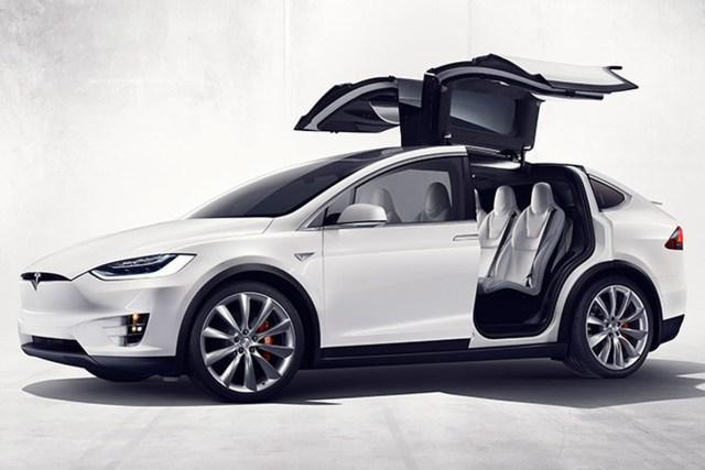 Tesla model x falcon door