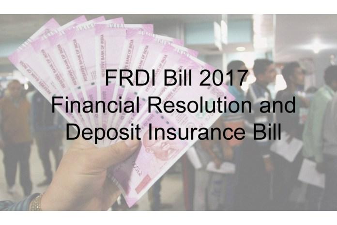 Financial Resolution and Deposit Insurance Bill