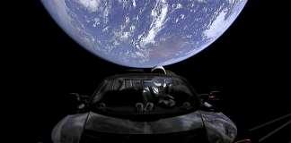 spaceman on tesla
