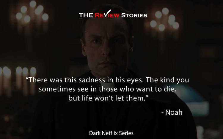 There was this sadness in his eyes. The kind you sometimes see in those who want to die, but life won't let them.