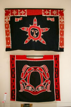 ḵa̱ngex̱tola (button blankets) Layers of Influence exhibtion, MOA at UBC Photo cred: Lauren Chancellor