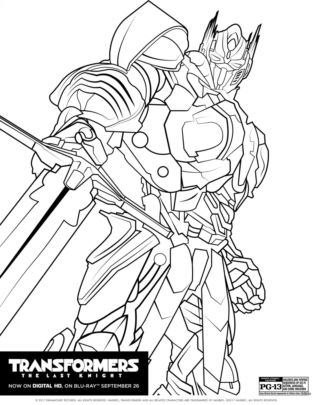 Transformers The Last Knight Coloring Pages