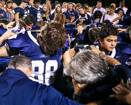 Religious freedom under continued attack. Cambridge Christian denied prayer before game.