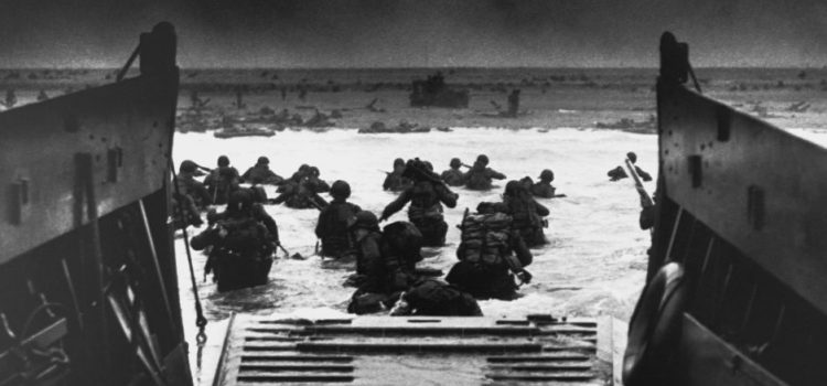 June 6, 1944, D-Day, Normandy landings with the Allies invading.